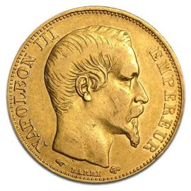 Pièce d'or 20 Francs - Napoléon III en Or - 5,8064 g - France Face